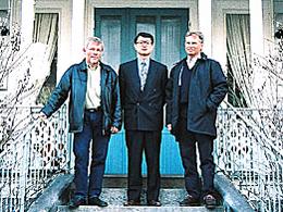 右からラッセ・ラールソン(W.Stugan社社長)、残間昭彦(弊社社長)、ヨーラン・ニルソン(W.Stugan社重役)